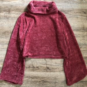 MinkPink | Cropped Pink Mauve Sweater